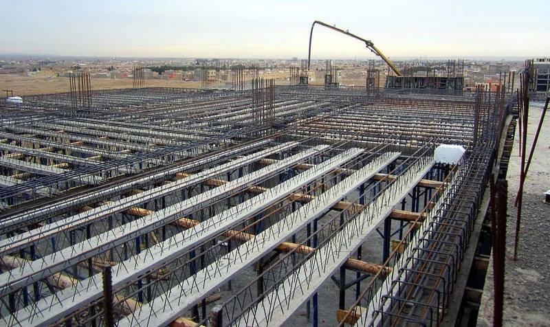 اجرای سقف عرشه فولادی,انواع سقف در سازه ها,سقف تیرچه بلوک
