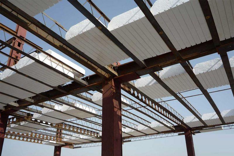 سقف عرشه فولادی چست,اجرای سقف عرشه فولادی,انواع سقف در سازه ها