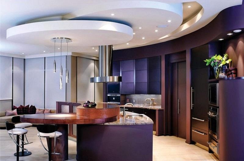 سقف کاذب آشپزخانه,سقف کاذب کناف,طراحی سقف آشپزخانه