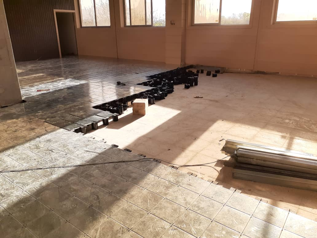 اتمام پروژه کف کاذب آتش نشانی شهر اصفهان