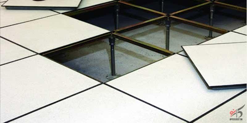 پانل کف کاذب,تایل کف کاذب فولادی,قطعه ارتفاع دهنده کف کاذب طرح لگراند