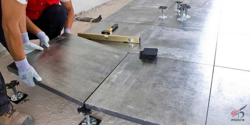 خرید و نصب کف کاذب,کف کاذب آلومینیومی,نمایندگی کف کاذب